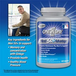 Vitamin one day nam giới 50+