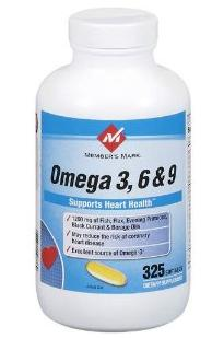 Members Mark - Omega 3, 6, 9 325 table