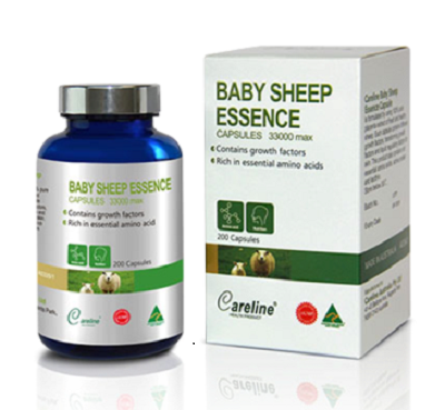 Nhau thai cừu careline baby sheep essence 33000 mg hộp 200 viên
